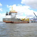 The Boskalis Westminster dredger, Causeway, began dredging 13 April
