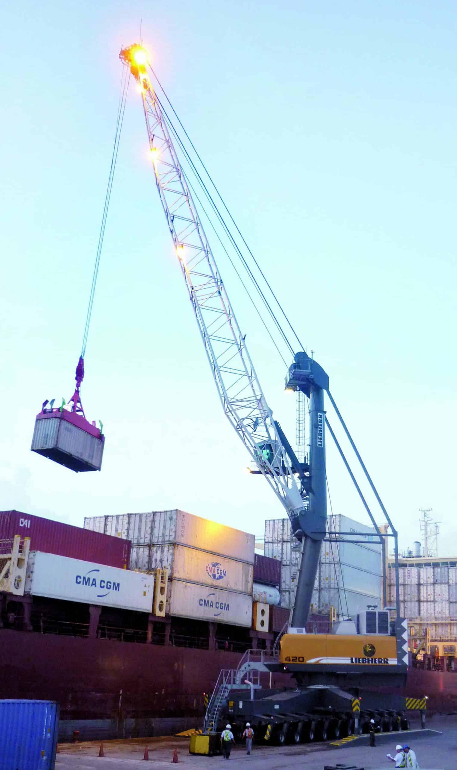Liebherr mobile harbour crane bound for Australia