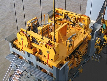 RAM tandem head-blocks and spreaders for DP World ports