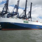 The ro-ro vessel Dresden made the first call