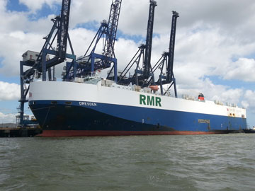 Thamesport gains West African Ro-Ro service