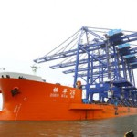 The four cranes arrive from China