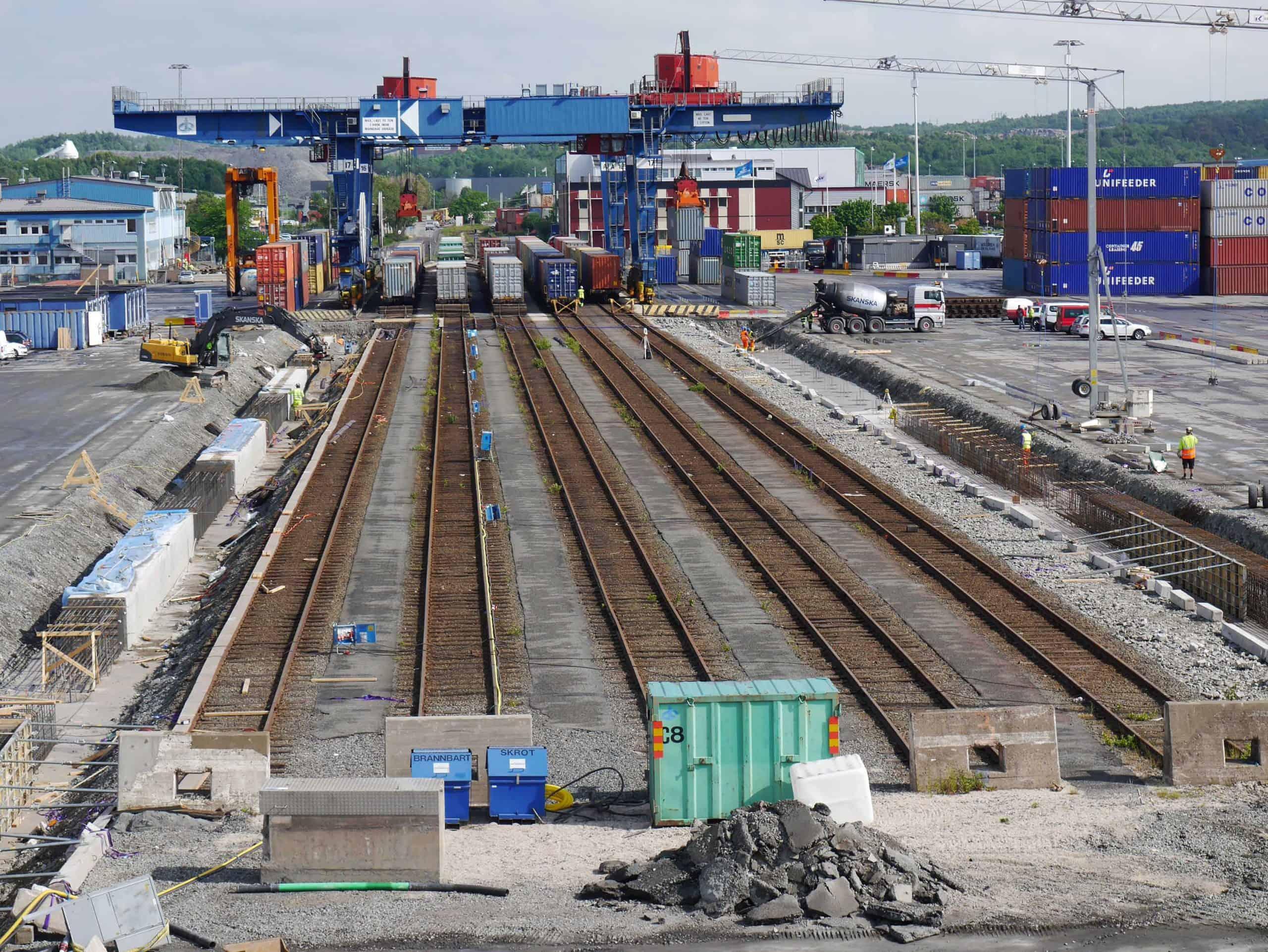 Rail expansion at APMT Gothenburg