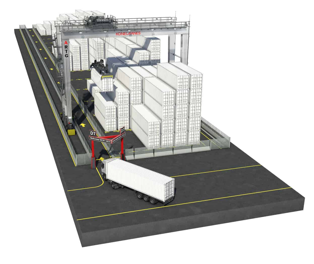 Konecranes automated RTGs for TPKS in Indonesia