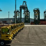 The terminal is equipped with four super post-Panamax cranes