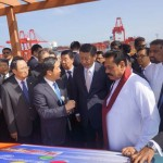 Li Jianhong talks to Chinese and Sri Lankan dignitaries