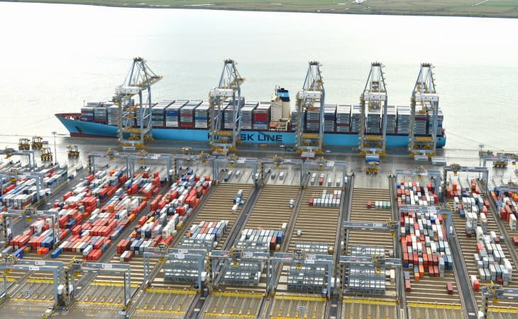 Edith Maersk berths at London Gateway