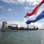 Cosco's Yong Sheng docks in Rotterdam after its Arctic voyage in 2013