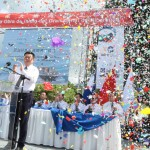HKND Group Chairman Wang Jing speaks during the start of the first works of the Interoceanic Grand Canal in Brito town