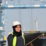 Ayesha Al Marzooqi has become the UAE's first female quay crane operator