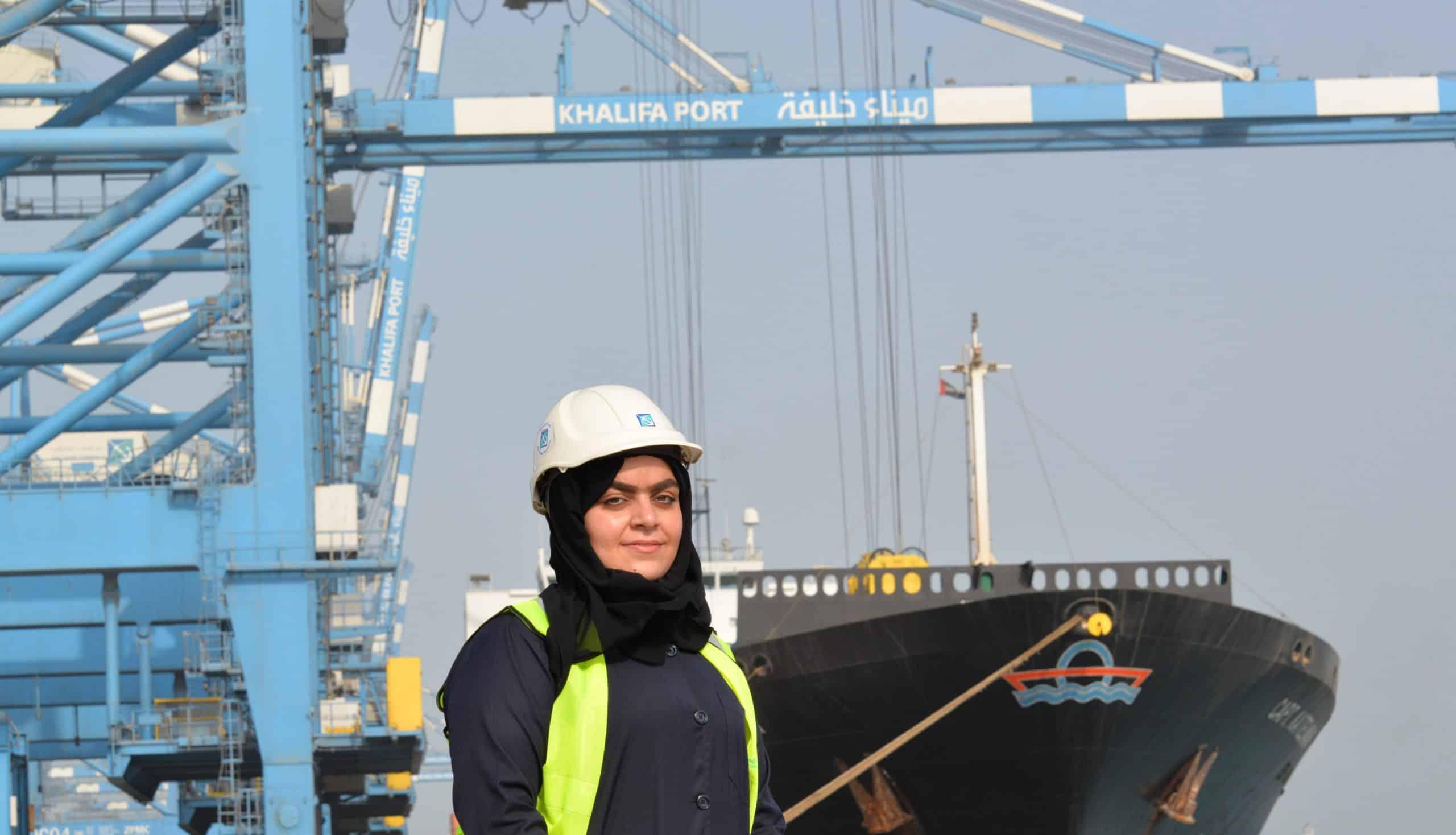 UAE's first female crane operator at Khalifa Port