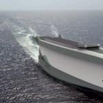 The shape of the ship's hull generates an upward lift
