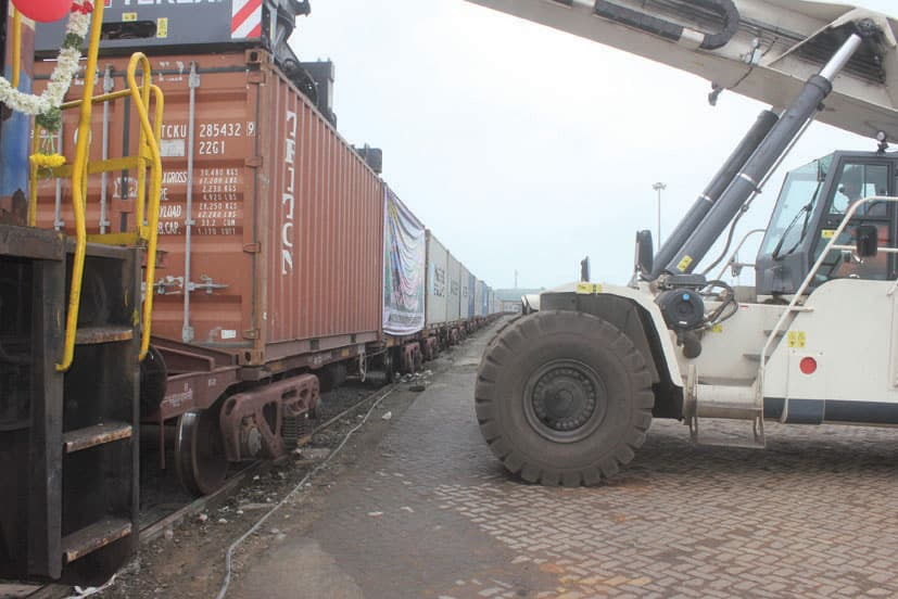 New container train service from Krishnapatnam Port to Bangalore