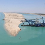 More than 210m tons of sand have been excavated for the New Suez Canal
