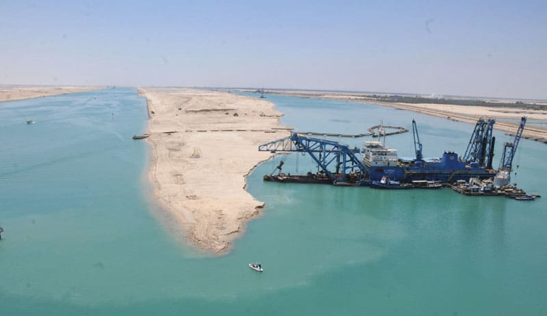Start of the official countdown to opening the New Suez Canal