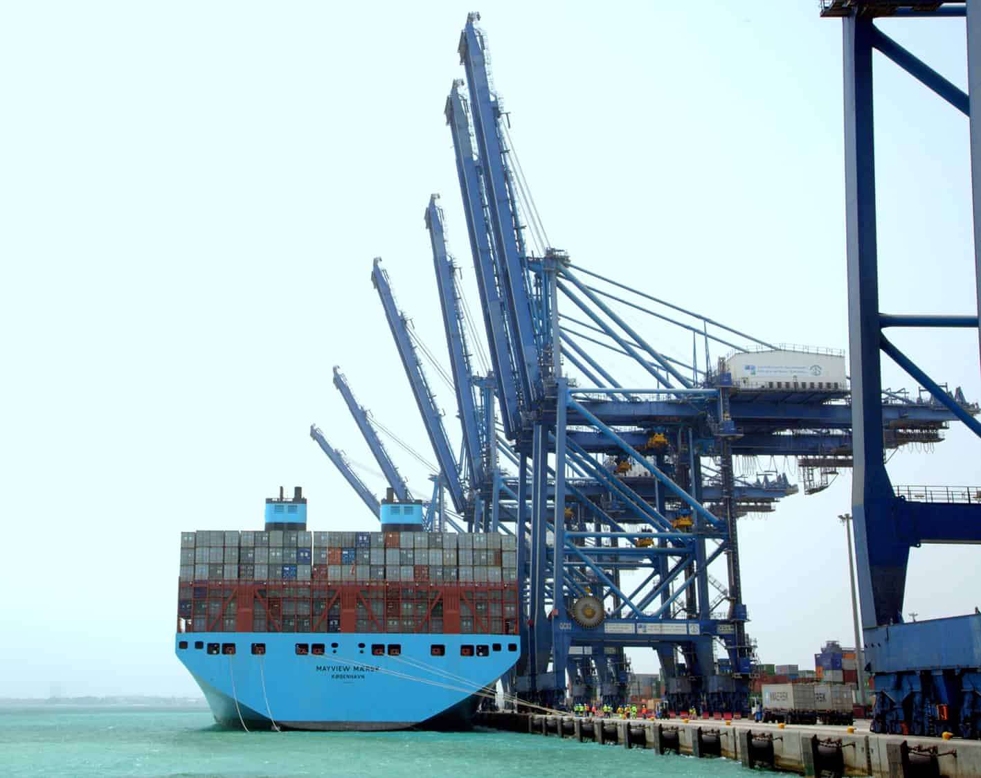 Maersk mega ship calls at Jeddah's Red Sea Gateway Terminal