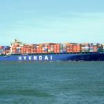 The 'Hyundai Bangkok' has made its maiden call at Khalifa Port Container Terminal