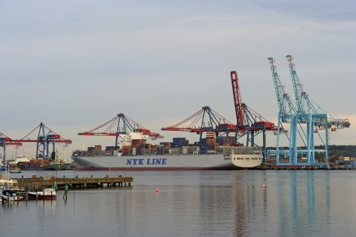 The Port of Gothenburg announces a marginal increase in its Q2 container traffic