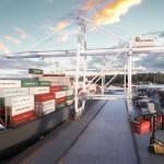 An artist's impression of the container terminal