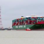 The vessel was en route to Hamburg from Felixstowe