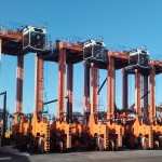 Kalmar ESC350 straddle carriers are diesel-electric