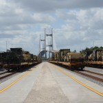 The first trains at Jaxport's new facility