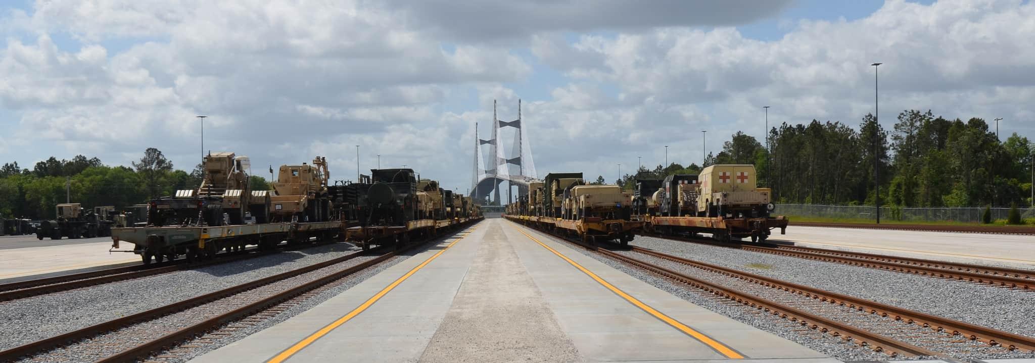 New Jaxport rail terminal receives first trains