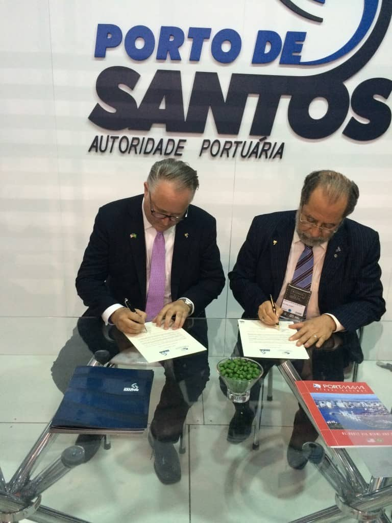 Miami and Santos sign sister ports agreement
