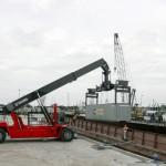 The Kalmar Super Gloria reachstacker