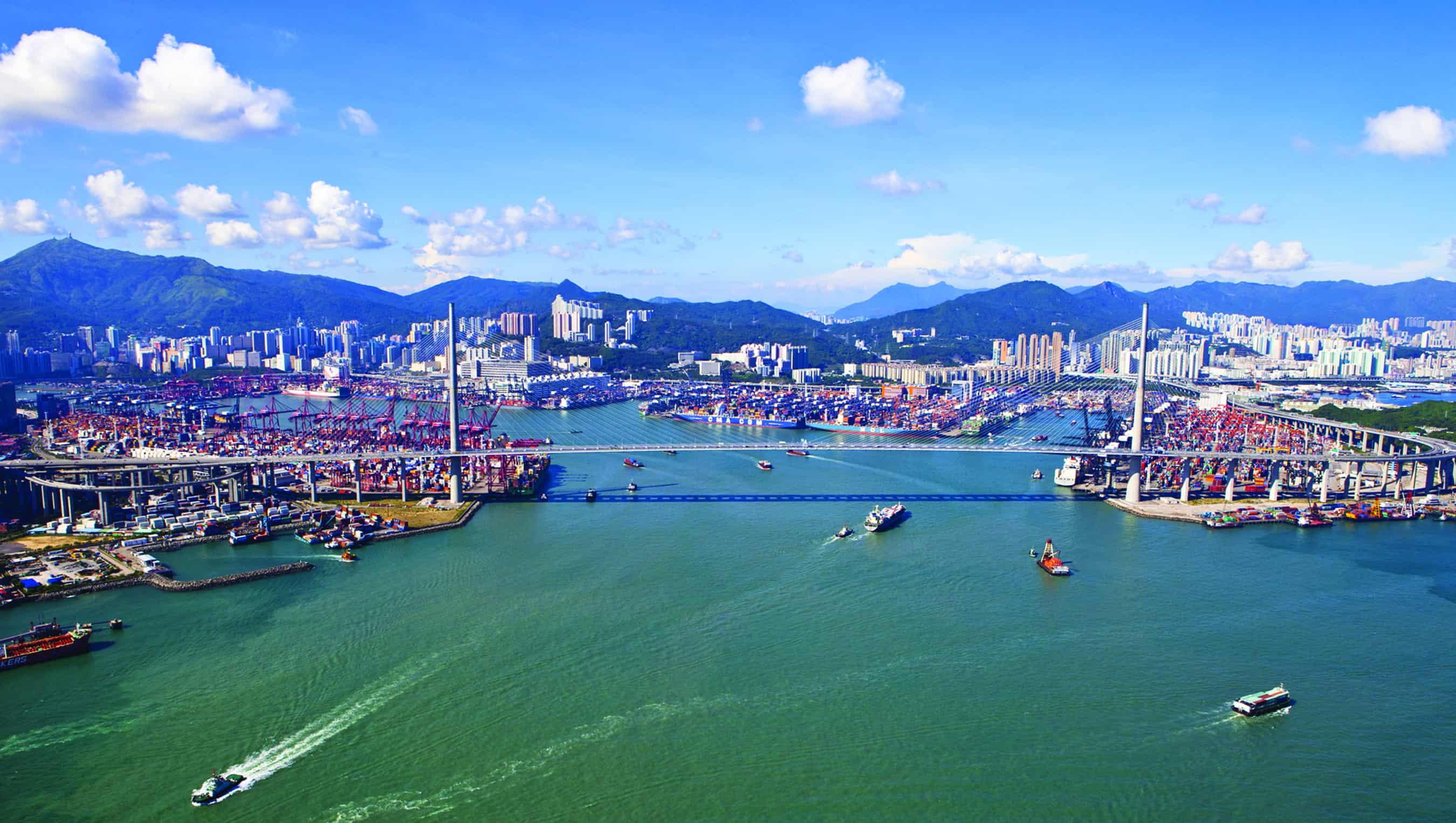 Hong Kong considers building homes above port