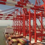 The terminal has an annual capacity of 1m teu