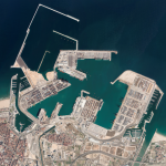 Aerial image of the Port of Valencia