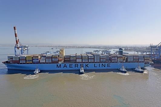 Haifa Port handles it largest ship