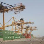 Hodeidah port following the strikes in August 2015 (Credit: MSC)