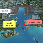 The port will be able to handle several cargo types