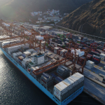 The Maersk vessels are the largest to call at the terminal
