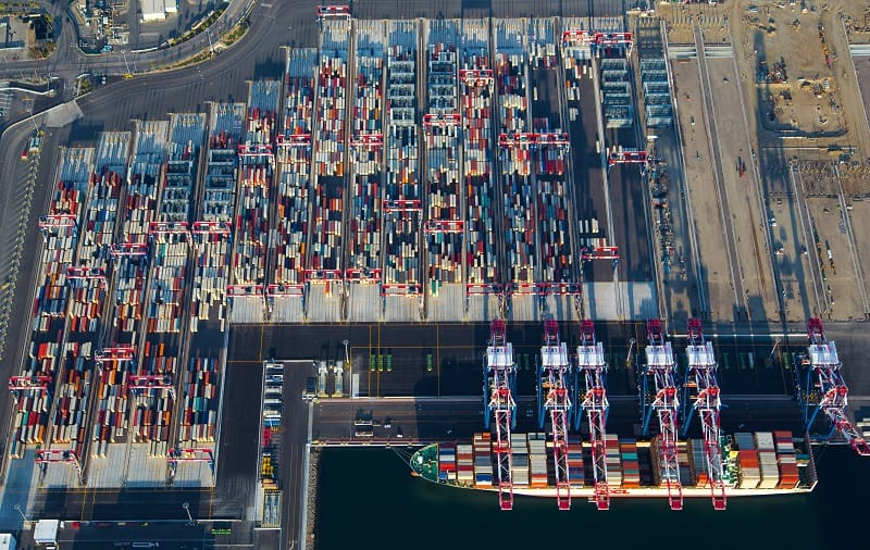 Strong volumes at the Port of Long Beach