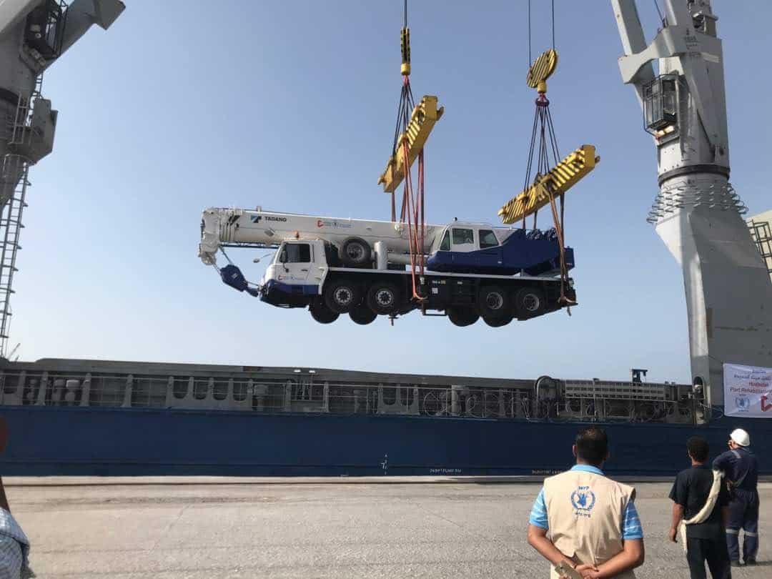 Hodeidah gifted four truck cranes