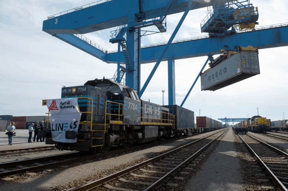 Antwerp receives Silk Road train