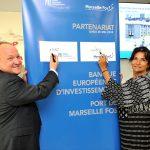 Marseille Fos CEO Christine Cabau Woehrel and EIB vice-president Ambroise Fayolle