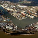 Aerial of Port of Tilbury