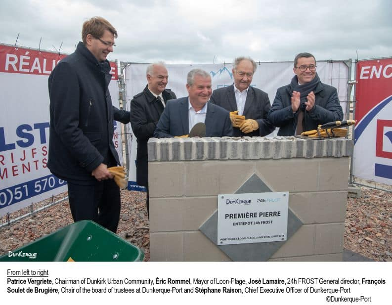 Construction begins on cold storage warehouse at Port of Dunkerque
