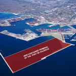 The location of Valencia's new container terminal