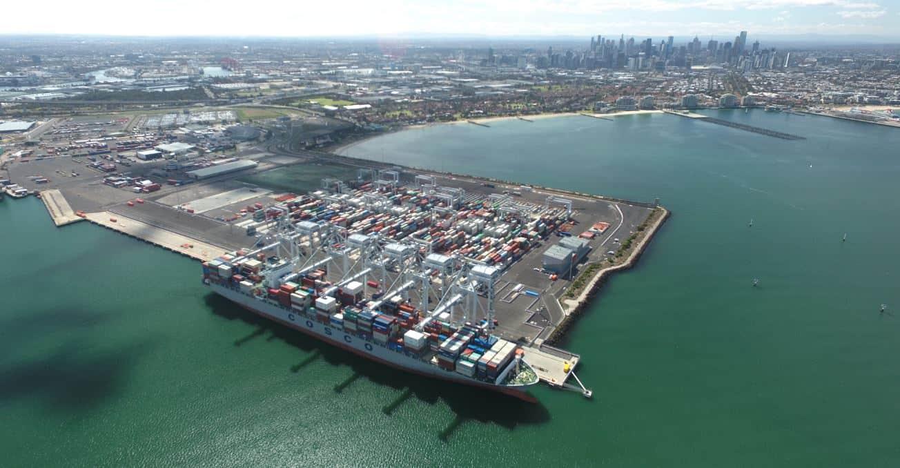 Regular 8,000 teu vessel calls at VICT