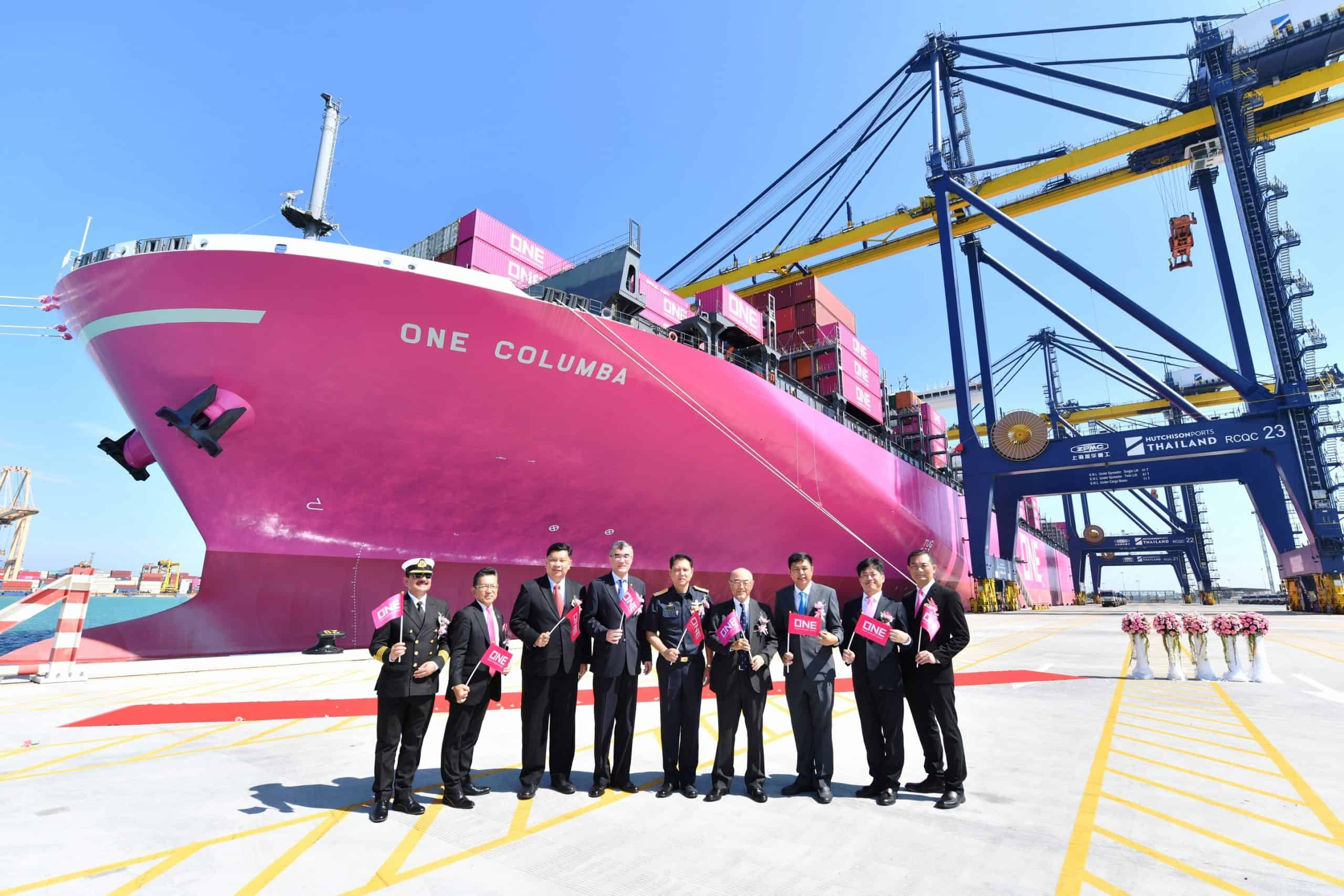 Hutchison Ports welcomes Thailand's largest ever containership