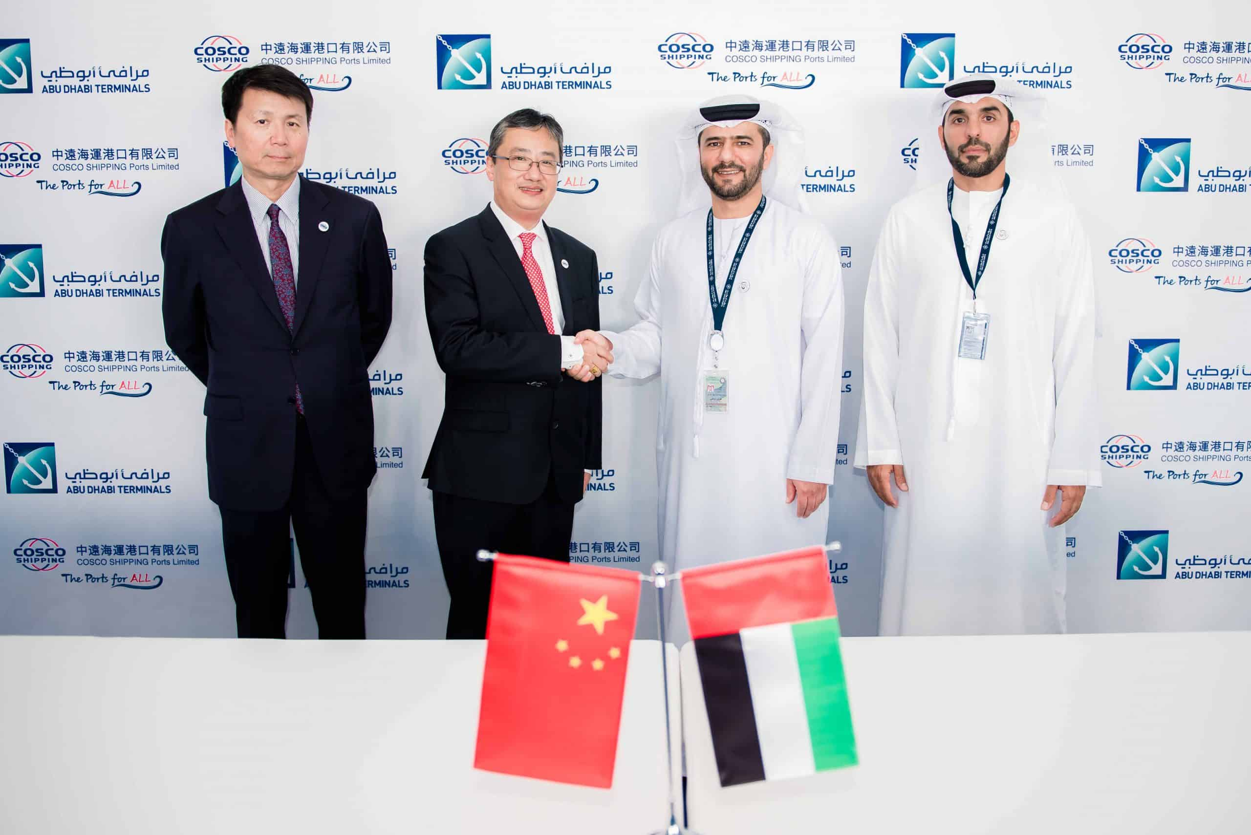 Abu Dhabi Terminals and COSCO agree to increase collaboration
