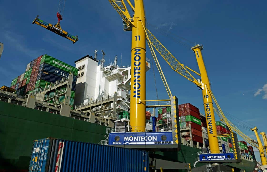 Montecon orders its third giant Liebherr mobile harbour crane