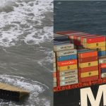 Around 270 containers fell off of MSC Zoe Credit: Coast Guard Netherlands