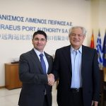 Pino Musolino, president of the North Adriatic Sea Port Authority and Captain Fu Chengqiu, CEO of Piraeus Port Authority S.A