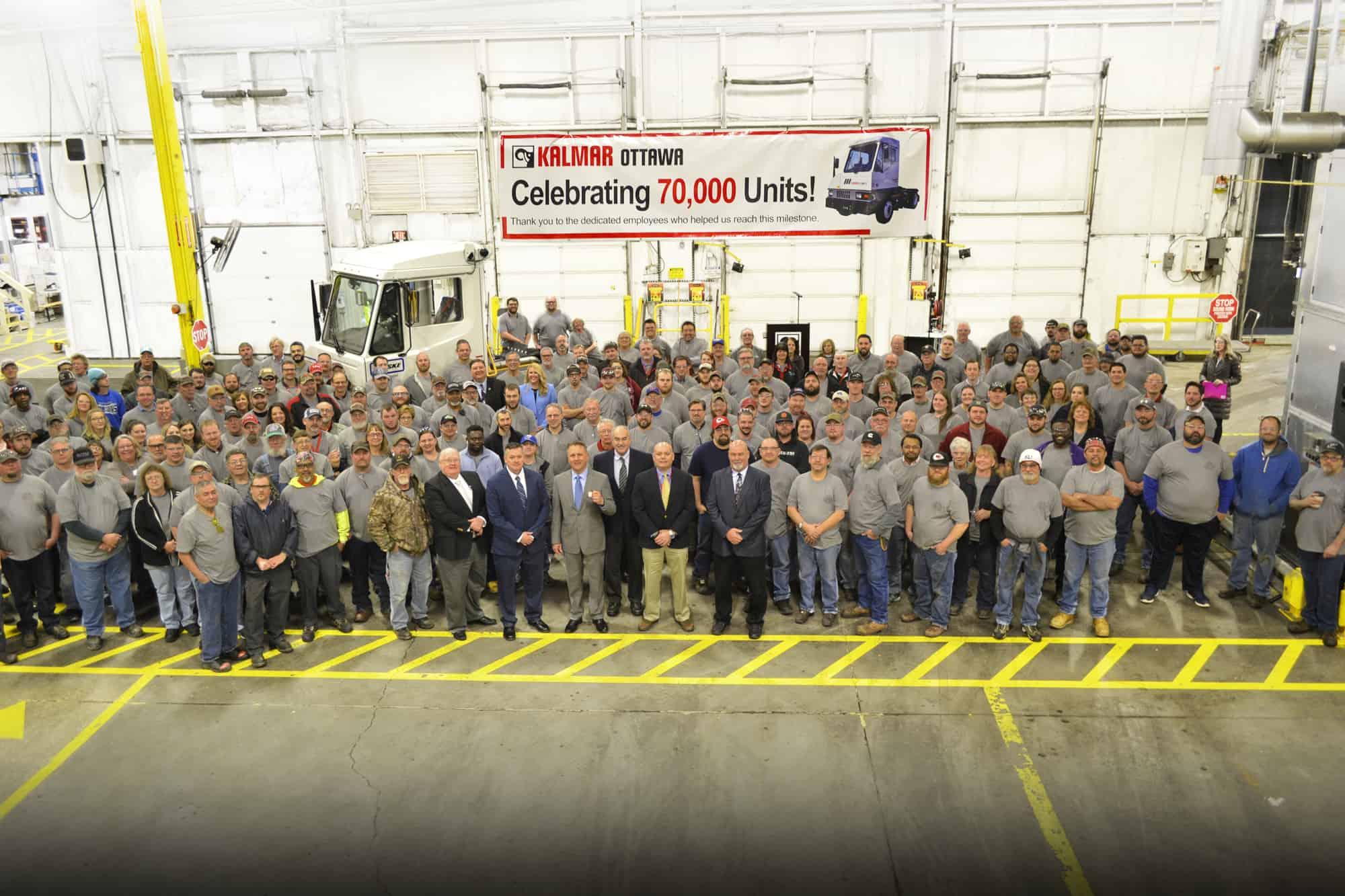 Kalmar manufactures its 70,000th terminal tractor